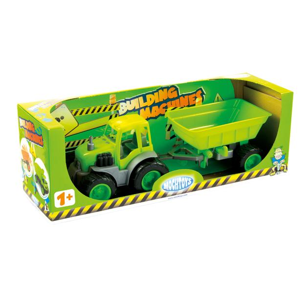 Traktor z Przyczepą na Gumowych Kołach w Pudełku