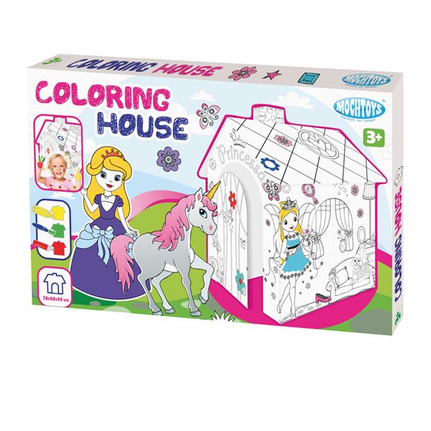Domek Do Kolorowania Ksieżniczka