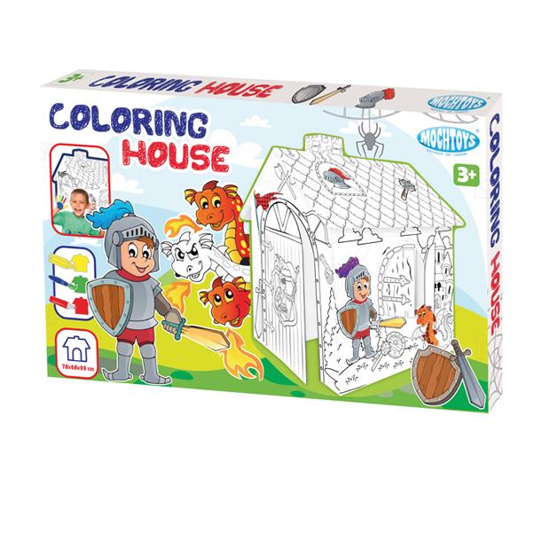 Domek Do Kolorowania Rycerz
