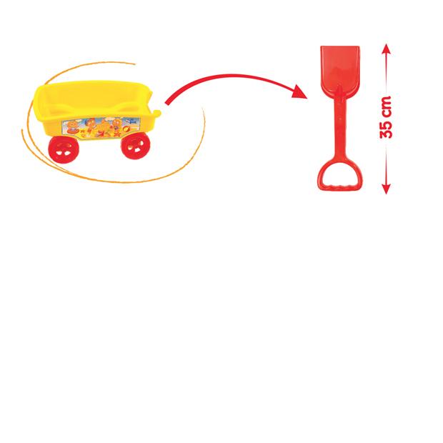 Wózek z łopatą