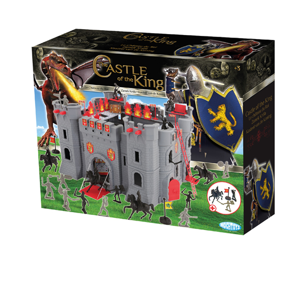 FORTIFIED CASTLE AND KNIGHTS