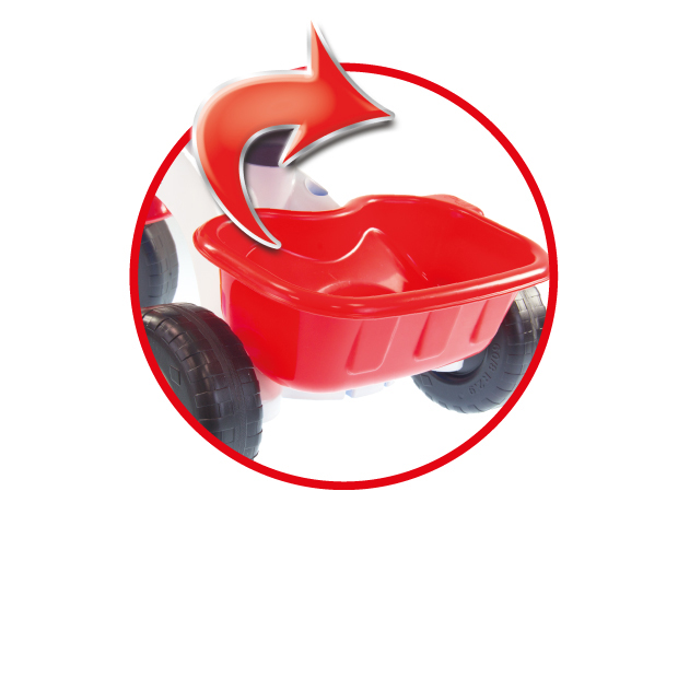 PLASTIC TRICYCLE WITH-HANDLE  AND FREEWHEEL