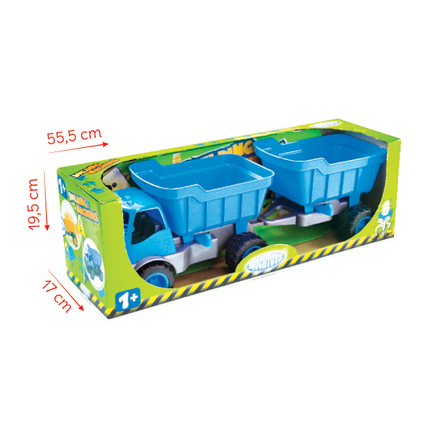 ACTIV CAR WITH TRAILER / RUBBER WHEELS
