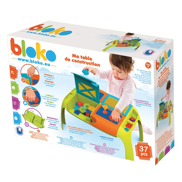TABLE FOR BLOCKS + PIN BRICKS 37 EL.