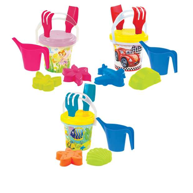 Summer set with watering can / transaparent