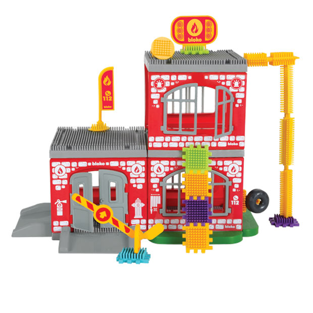 Klocki Pin Bricks Straż+Wóz Strażacki i Figurki 3D