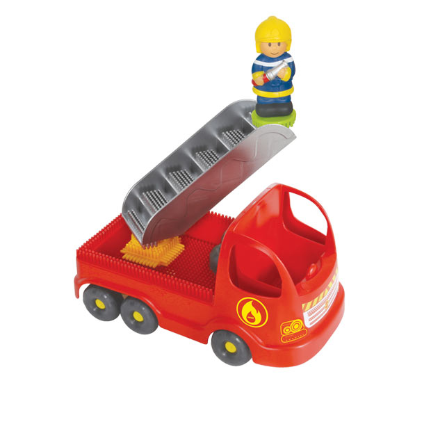 Pin Bricks Guard + Fire Truck and 3D Figures