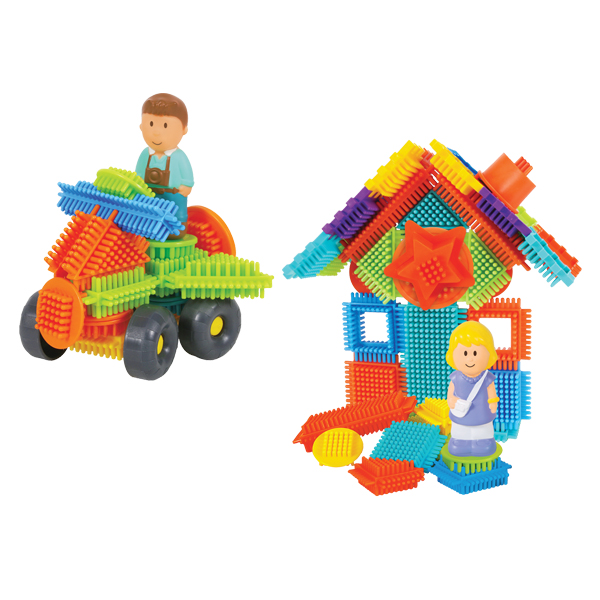 100 pcs Pin Bricks blocks with 4 3D figures in the Family Carton
