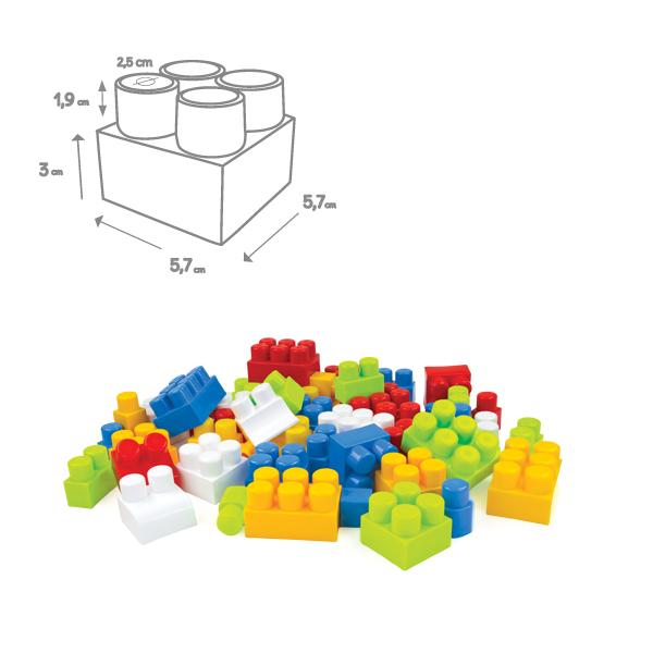Big blocks in a bag 56 pcs.