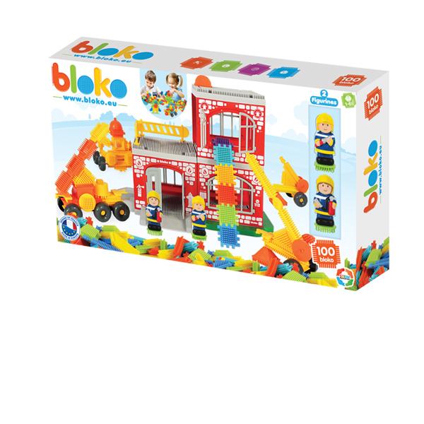Klocki Pin Bricks Straż+2 Figurki 3D w Kartoniku