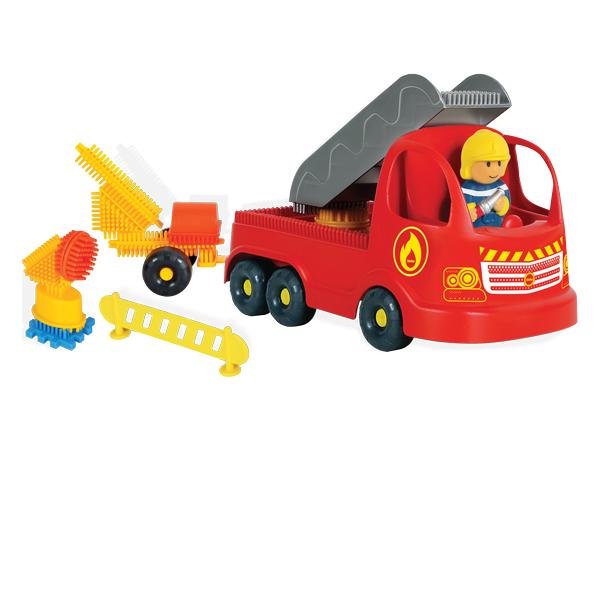 Firetruck with Pin Bricks + 3D Figurine 100 pcs.