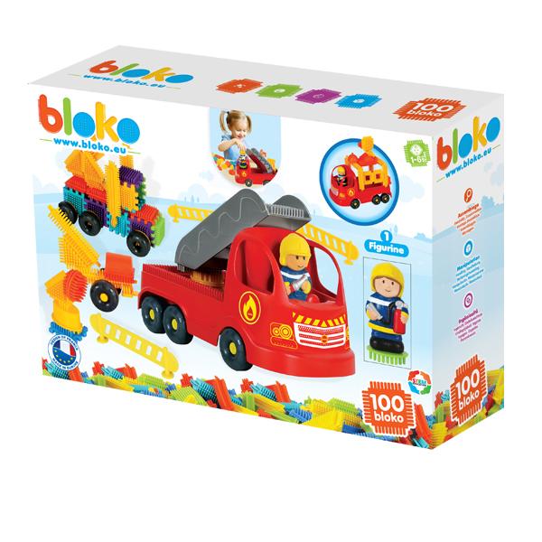 Wóz Strażacki z Klockami Pin Bricks+ Figurka 3D 100 el.
