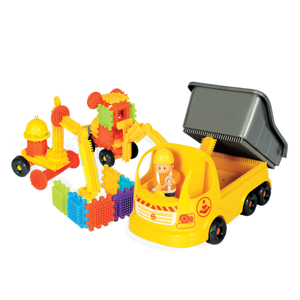 Truck with Pin Bricks in a box with a 3D figure 100 pcs.