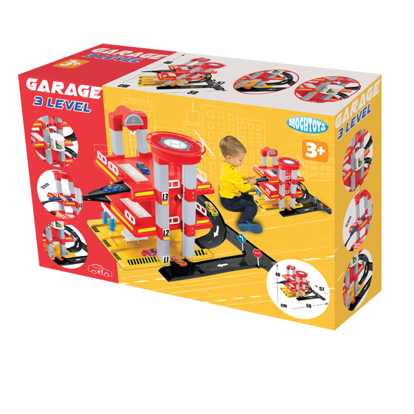 Garage 3 levels with a road